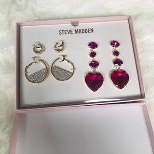 Steve Madden 3 piece earring set